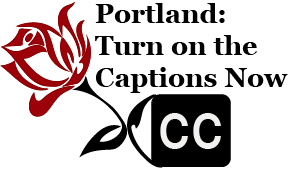 Portland turn on the captions now